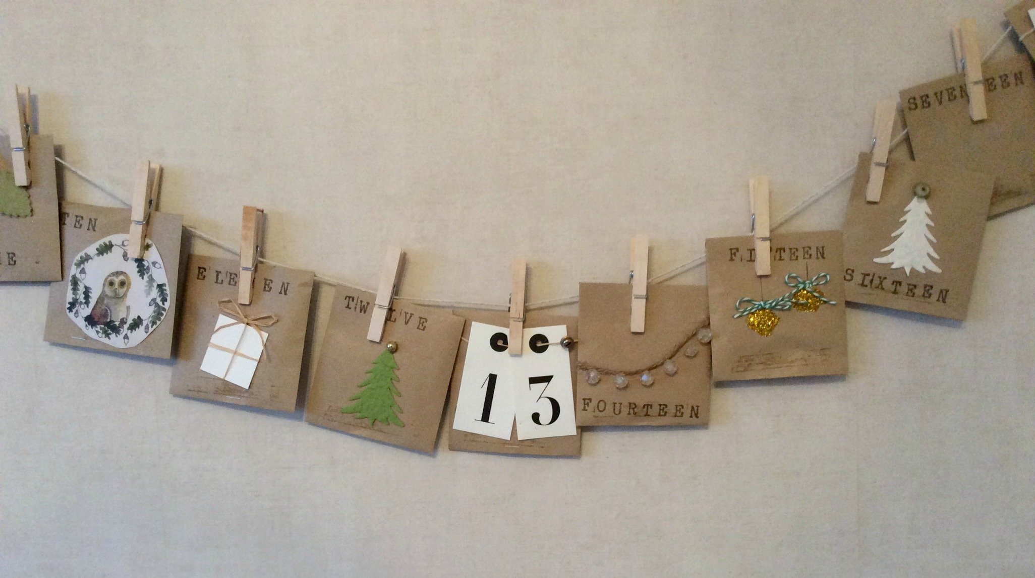 Advent Calendar Envelopes Ideas : Diy brown envelope advent calendar