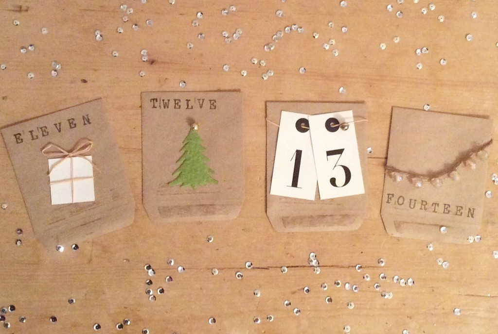 diy brown paper advent calendar