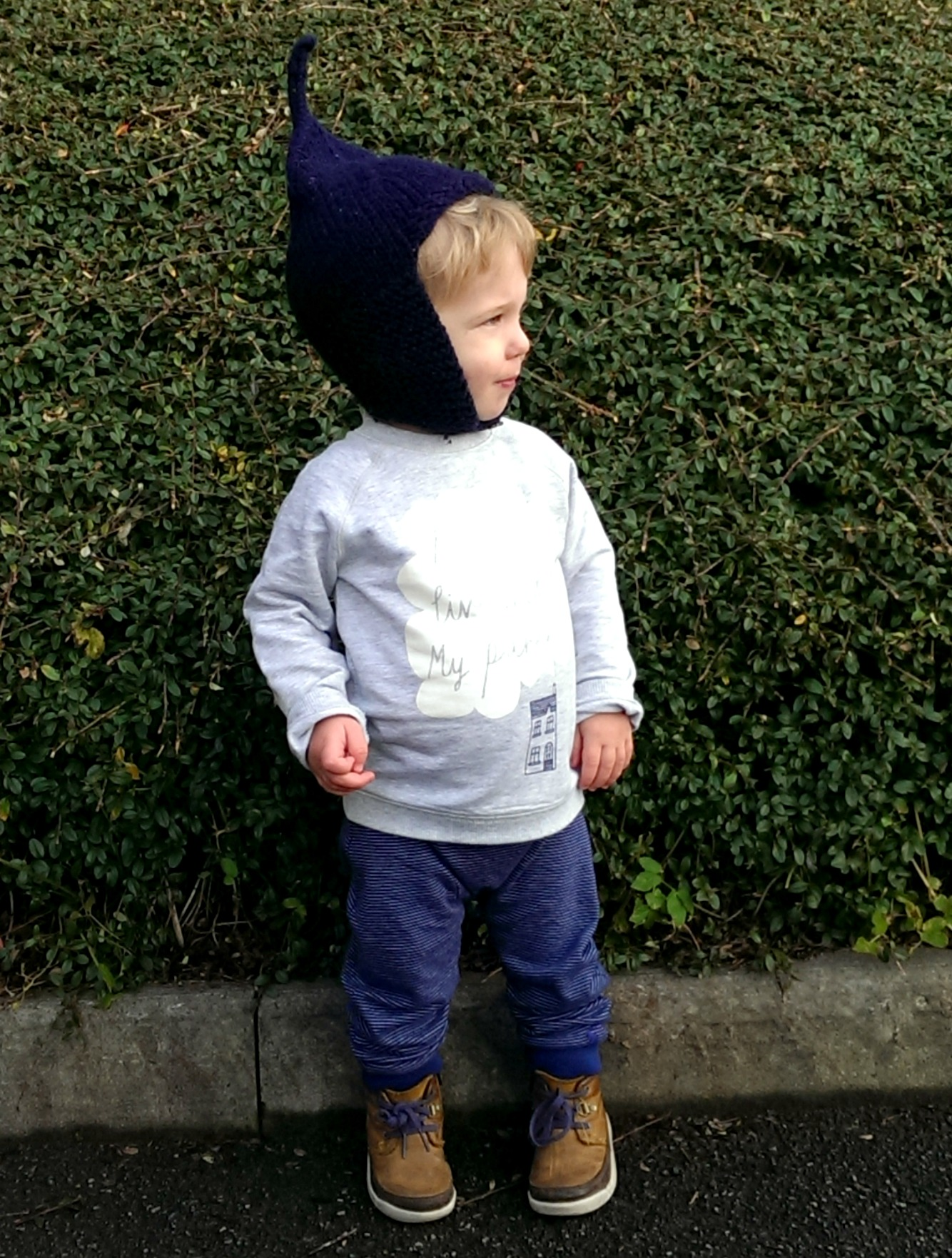 Dressing a baby boy with Joules