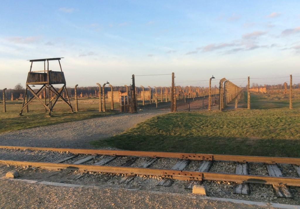 train tracks birkenau