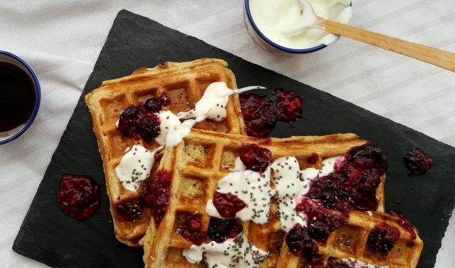 healthy waffle recipe