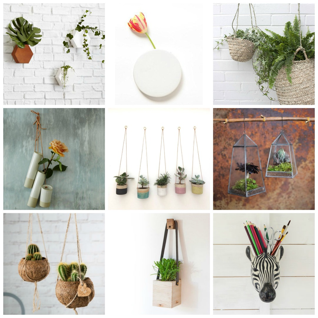 hanging planters and wall vases